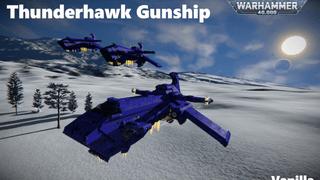 40k Thunderhawk Gunship orbital dropship vanilla