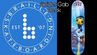 Braille Skateboarding Spider Gab Deck