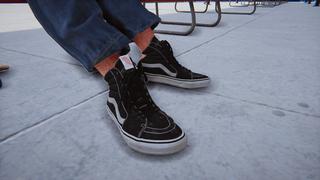 Vans Sk8-Hi Black n White Black Laces
