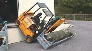 Forklift for bombs and missles