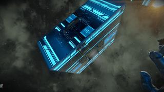 Neon astroid mining gate