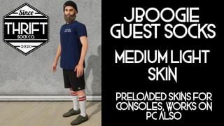Thrift CONSOLE - JBoogie Socks - MediumLight Skin