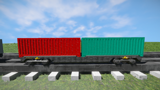 Freight Vagon container-7 V2