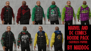 Marvel & DC Hoodie Puffers by MADDOG