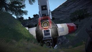 Crashed orbital wepons platform