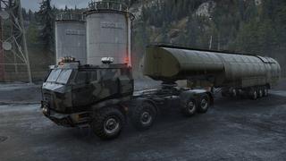 5000L Heavy fuel tanker semi-trailer