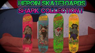 Herion Skateboards: Shark collection With Grip