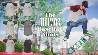 The Thumb Baseball Shirts - Short Sleeved T-Shirt