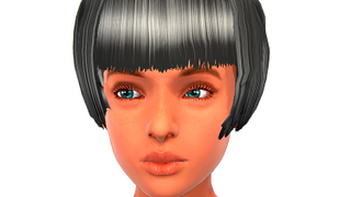Womens Blunt Fringed Bob