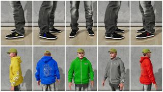 Down Shoes 1Up 5 Colors + 5 Hoodies