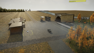 Testing cars on the autumn map
