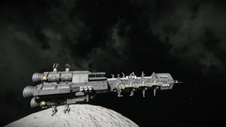 Hydrogen frieghter with wepons