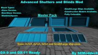 Advanced Shutters and Blinds Master Pack