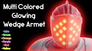 Multi Colored Glowing Wedge Armet