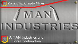 MAN Industries and Flare's Zone Chip Crypto Miner