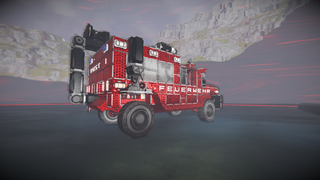 Firetruck with Towcrane
