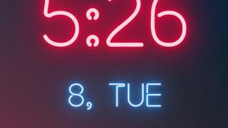 Neon clock 12h