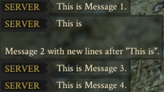 [UPDATED #22] Server Messages - Server only Mod