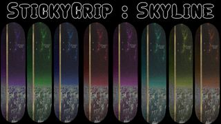 StickyGrip Cutout with Skyline Grip 8 Colors
