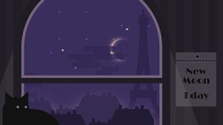 Moon in Paris - Minimalistic Animated Wallpaper