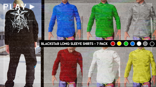 Blackstar Long Sleeve Button Up Shirts 7 - Pack