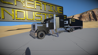 Big rig truck and trailer