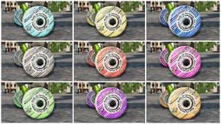 Etaks Wheels Striped1 9 Colors