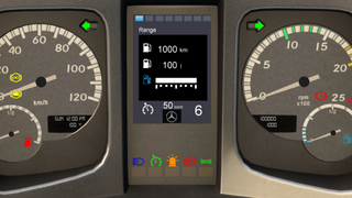 Mercedes-Benz New Actros ETS2 Smartphone Dashboard