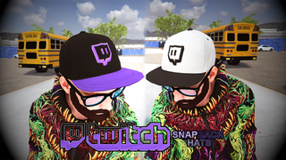 Twitch Glitch Snackback Hats