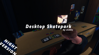 Desktop Skatepark by s4shko (night)