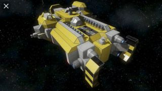 Mining hauler A.I. ship