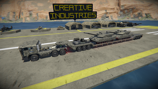 MAN Truck & trailer with Leopard 2 tanks