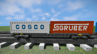 Freight Vagon container-5 V2