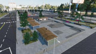 Harbor Skatepark With Some Street
