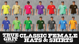 True Grit - Classic Female Hats and Shirts