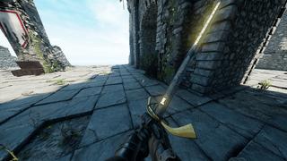 Glowing yellow/blue letters on Bastard Sword