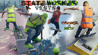 """Skate Workers Vest"" Exit 30 Dist. by Twixtor"