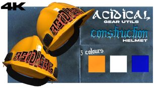 [4K] ACIDICAL GEAR UTILS - CONSTRUCTION HELMET