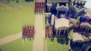 The siege of the temple