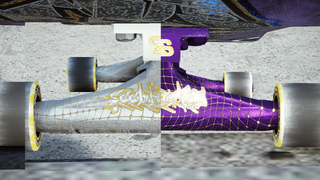 SEEBLUNTED 2 Trucks - Silver/Gold - Purp/Gold