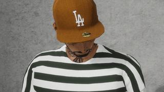 LA Dodgers Snapback Hat 59fifty - Beige / Brown