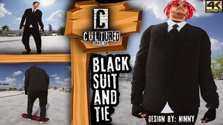 Cultured Black Suit And Tie By Ninny
