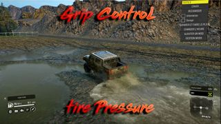 Grip control with pressure tire
