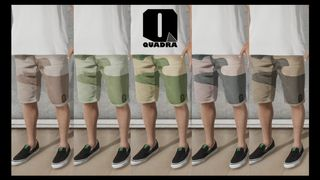 Shorts - Denim Camo - Quadra Skateboards