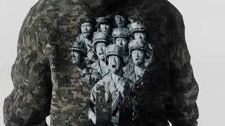 What Am I Doing Military Hoodie