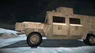 Humvee armed