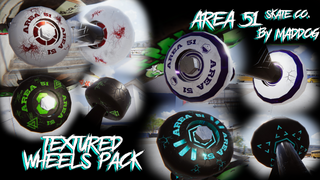 Area 51 Skate Co - 4x Wheel Pack (Textured)