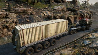 4 Cargo Slots Heavy Duty Lowboy Trailer