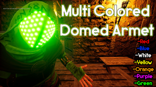Multi Colored Domed Armet