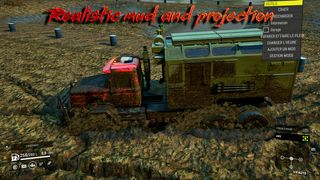 Realistic mud and projection on vehicles